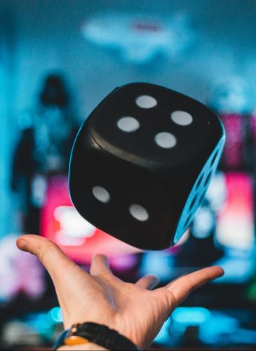 Black Dice is thrown in the air